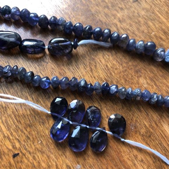 Genuine Blue Iolite bead lot